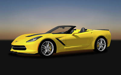 Photograph - 2014 C7 Chevrolet Corvette Convertible   -   2014c7corvettecv170188 by Frank J Benz