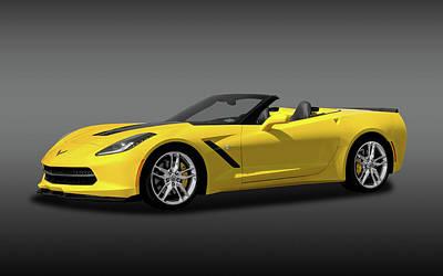 Photograph - 2014 C7 Chevrolet Corvette Convertible   -   2014c7corvettecvfa170188 by Frank J Benz