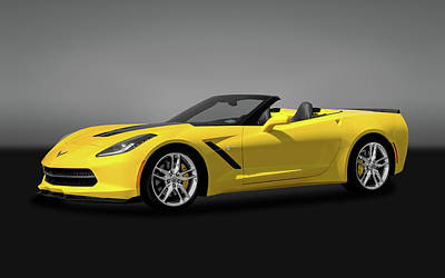Photograph - 2014 C7 Chevrolet Corvette Convertible  -  2014chevyc7vettecvgry170188 by Frank J Benz