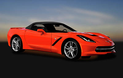Photograph - 2014 C7 Chevrolet Corvette Stingray Convertible  -  2014c7corvetteconvertible170777 by Frank J Benz