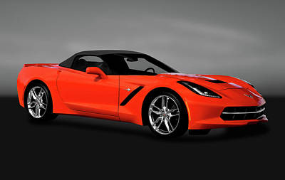Photograph - 2014 C7 Chevrolet Corvette Stingray Convertible  -  2014chevycorvettecvgry170777 by Frank J Benz