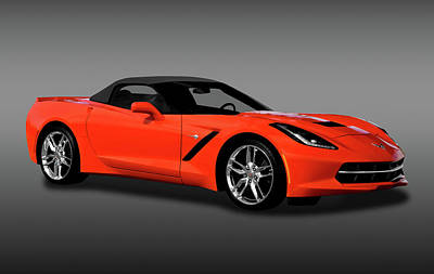 Photograph - 2014 C7 Chevrolet Corvette Stingray Convertible  - 2014corvettec7cvfa170777 by Frank J Benz