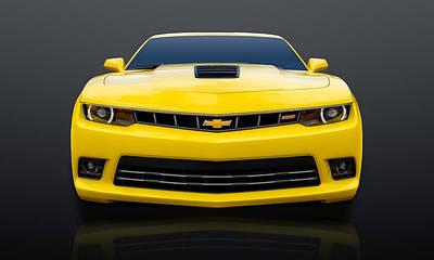 Photograph - 2014 Chevrolet Camaro Super Sport  -  2014camss11 by Frank J Benz