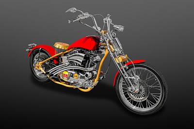 Photograph - 2014 Custom Built Harley Davidson Springer Motorcycle  -  14hdcusp2 by Frank J Benz