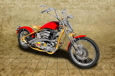 Photograph - 2014 Custom Built Harley Davidson Springer Motorcycle  -  14hdcusp3 by Frank J Benz