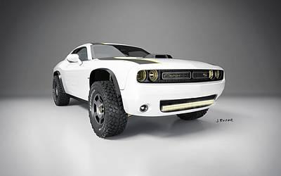 Challenger Digital Art - 2014 Dodge Challenger At Untamed Concept 2  2 by Anne Pool