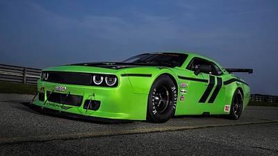 Challenger Digital Art - 2014 Dodge Challenger Srt Trans Am  1 by F S