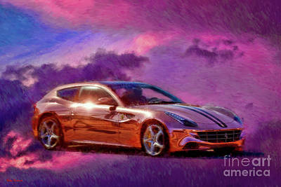 Photograph - 2014 Ferrari Ff Absolut Vodka by Blake Richards