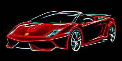 Digital Art - 2014 Lamborghini Gallardo by Aaron Berg