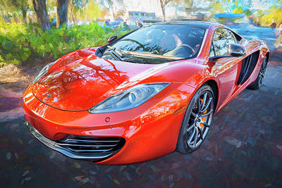 Photograph - 2014 Mclaren Mp4 12c Spider C194 by Rich Franco
