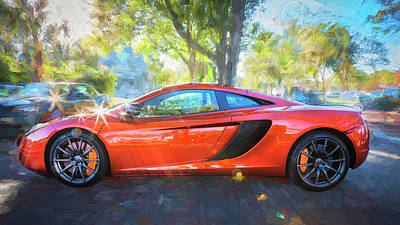 Photograph - 2014 Mclaren Mp4 12c Spider C196 by Rich Franco