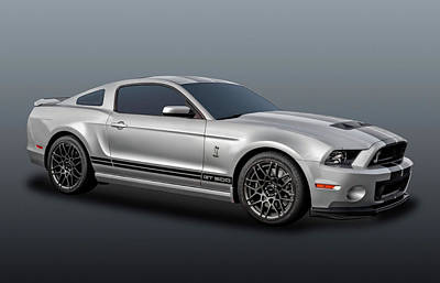 Photograph - 2014 Mustang Shelby Cobra Gt500  -  14mustang217-2b by Frank J Benz