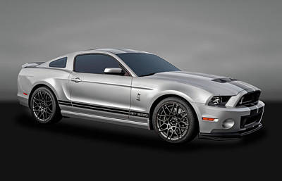 Photograph - 2014 Mustang Shelby Cobra Gt500  -  14mustang217-4d by Frank J Benz