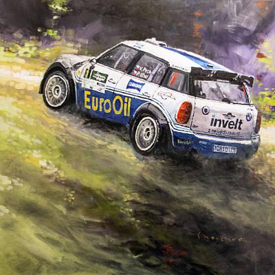 2014 Rallye Shumava Klatovy Mini John Cooper Works S200 Pech Uhel Art Print by Yuriy Shevchuk