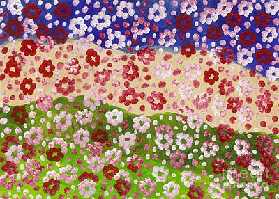 Titanium White Painting - 2014 The Blossoming Flowers 12 by Danny S Y Lee