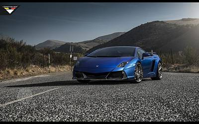 550 Digital Art - 2014 Vorsteiner Lamborghini Gallardo Lp 550 Renazzo  by F S