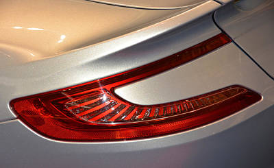 Photograph - 2015 Aston Martin Taillight by Mike Martin