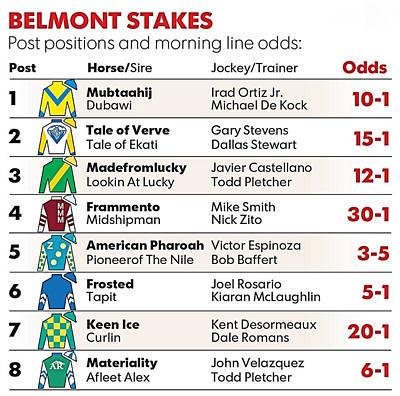 2015 Belmont Stakes Entries Art Print