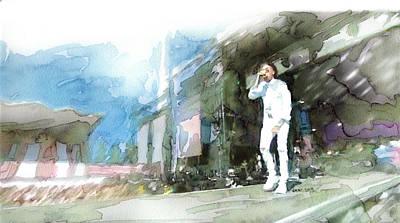New York Stadiums Drawing - 2015 Blockfest Tampere City / Finland by Jani Heinonen