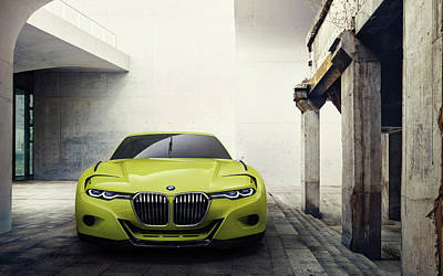 Hommage Digital Art - 2015 Bmw 30 Csl Hommage Concept by F S