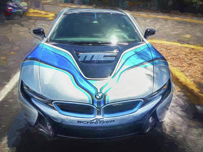 2015 Bmw I8 Hybrid Sports Car Art Print by Rich Franco