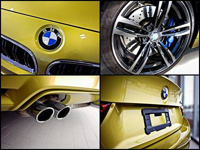 Photograph - 2015 Bmw M4 Collage  by Aaron Berg