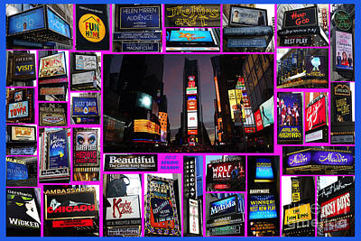 Photograph - 2015 Broadway Spring Season Collage by Steven Spak