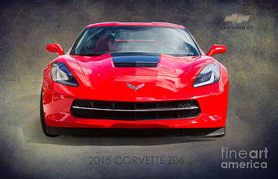 Garage Photograph - 2015 Corvette Z06 By Darrell Hutto by J Darrell Hutto