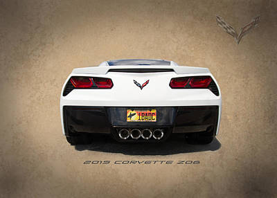 Custom Photograph - 2015 Corvette Z06 by J Darrell Hutto