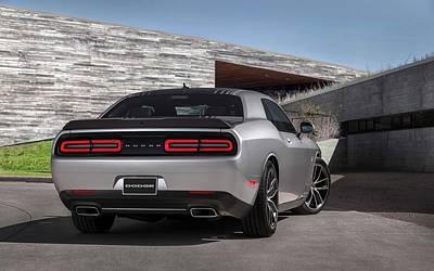 Challenger Digital Art - 2015 Dodge Challenger Shaker 2  by Anne Pool