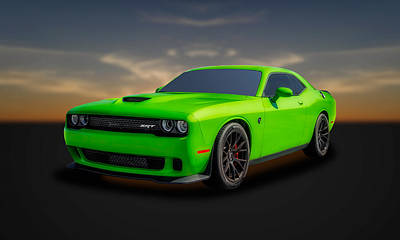 Photograph - 2015 Dodge Challenger Srt Hellcat  -  Dgch11 by Frank J Benz