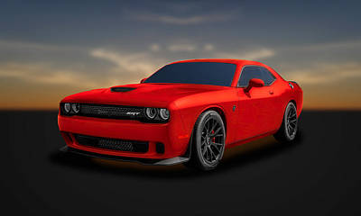 Photograph - 2015 Dodge Challenger Srt Hellcat  -  Srtrd1 by Frank J Benz