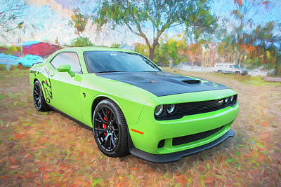 Photograph - 2015 Dodge Srt Hellcat Challenger C301 by Rich Franco