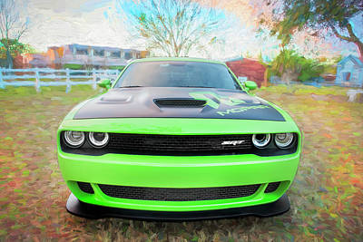 Photograph - 2015 Dodge Srt Hellcat Challenger C304 by Rich Franco