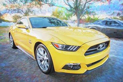 Photograph - 2015 Ford Mustang 50th Anniversary Edition C148  by Rich Franco
