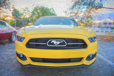 Photograph - 2015 Ford Mustang 50th Anniversary Edition C150  by Rich Franco