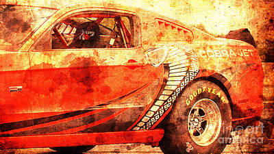 Cobra Mixed Media - 2015 Ford Mustang Cobra Jet, Classic Car, Original Gift For Husband by Pablo Franchi