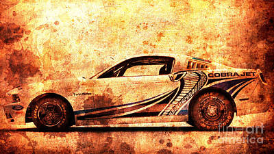 Cobra Mixed Media - 2015 Ford Mustang Cobra Jet Turbo by Pablo Franchi