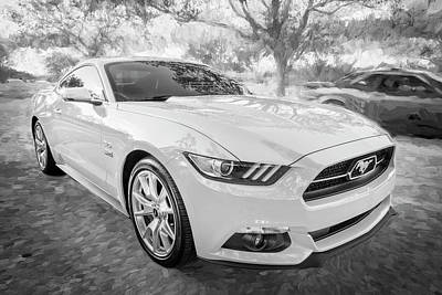Photograph - 2015 Ford Mustang Gt 50th Anniversary Edition Bw C152      by Rich Franco