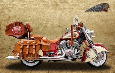 Photograph - 2015 Indian Chief Vintage Motorcycle - 2 by Frank J Benz