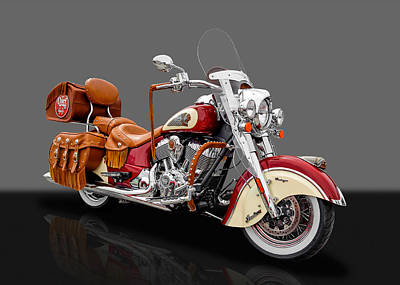 Photograph - 2015 Indian Chief Vintage Motorcycle - 3 by Frank J Benz