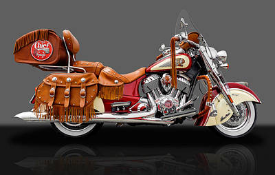 Photograph - 2015 Indian Chief Vintage Motorcycle - 4 by Frank J Benz