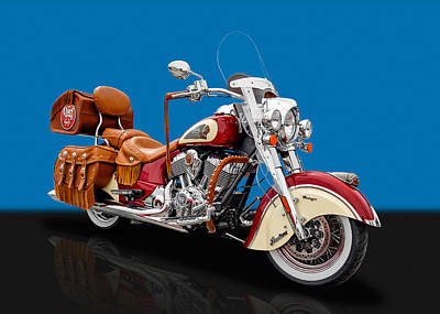Photograph - 2015 Indian Chief Vintage Motorcycle - 5 by Frank J Benz