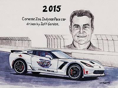 Painting - 2015 Indy 500 Pace Car by Jeff Blazejovsky