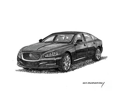 Painting - 2015 Jaguar X J L by Jack Pumphrey