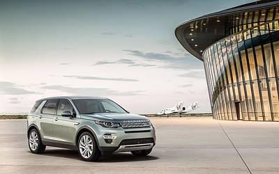 Spaceport Digital Art - 2015 Land Rover Discovery Sport Spaceport  by Mery Moon