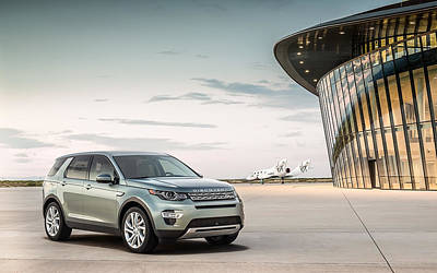 Spaceport Digital Art - 2015 Land Rover Discovery Sport Spaceport Wide by F S