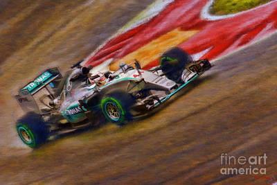Photograph - 2015 Lewis Hamilton Mercedes by Blake Richards