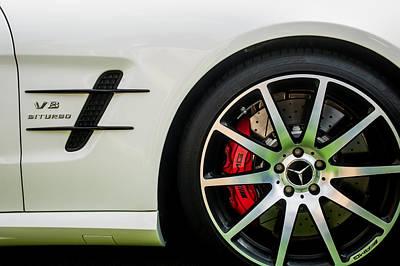 Photograph - 2015 Mercedes-benz Sl63 Amg Roadster Wheel Emblem -0653c by Jill Reger