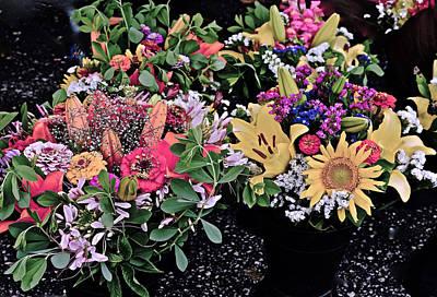 Photograph - 2015 Monona Farmers Market Flowers 1 by Janis Nussbaum Senungetuk